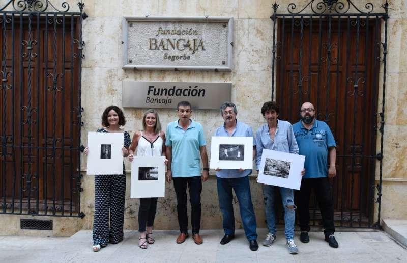 Obras ganadoras con miembros del jurado