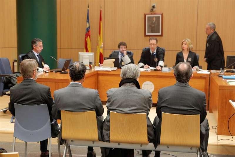Sala de la Sección Segunda de la Audiencia de Valencia, en una vista anterior del juicio, en enero. EFE/Kai Försterling/Archivo