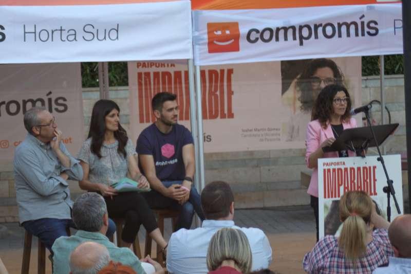 La candidata, Isabel Martín durant la presentació