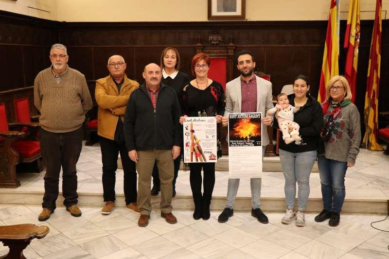Rueda de prensa en el Ayuntamiento de Sagunt. EPDA