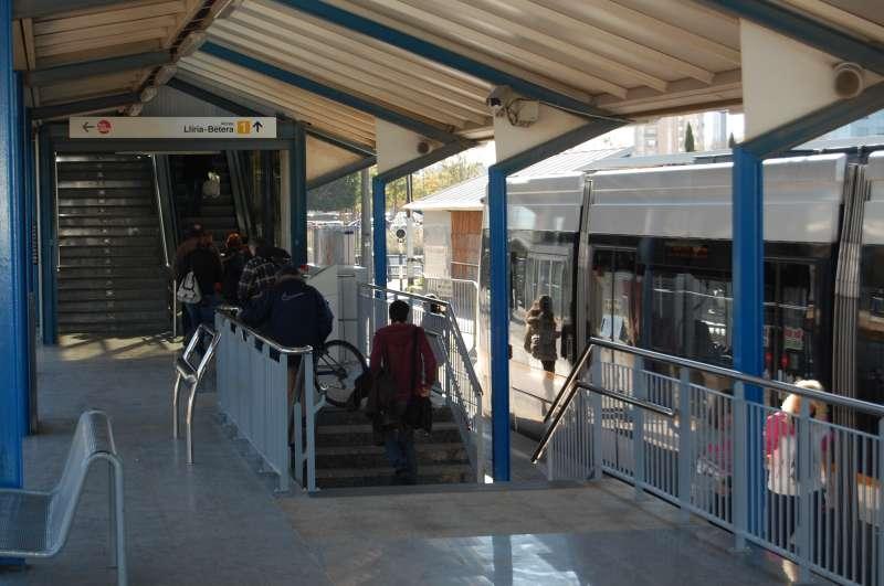 Zona Empalme de Metrovalencia.