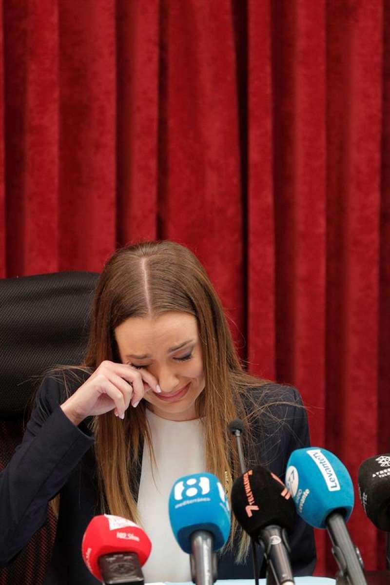 La fallera mayor de València, Consuelo Llobell. EFE/Kai Försterling