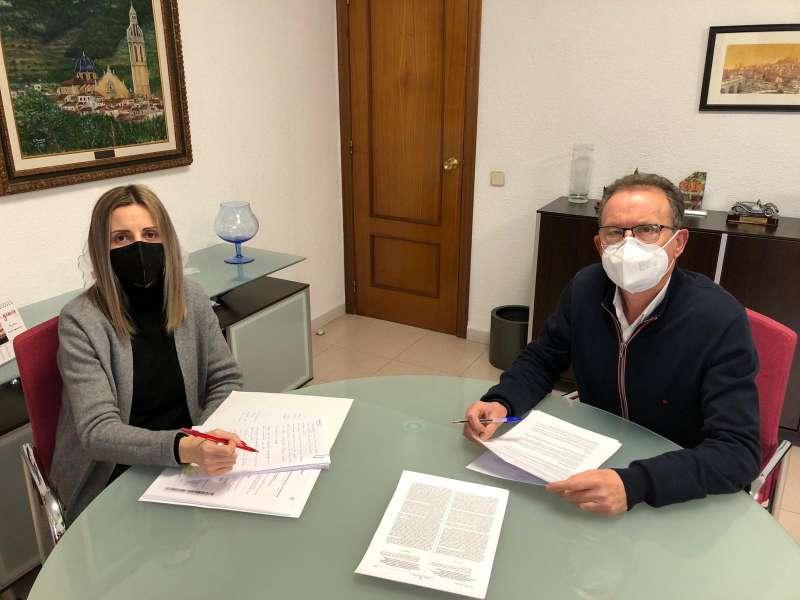 Reunion Francisco Juan alcalde de Alcalà