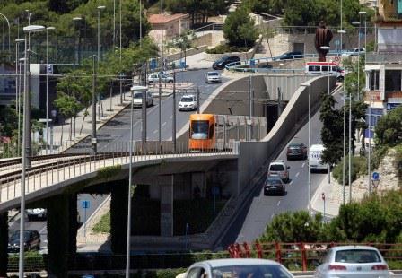 Infraestructura del tranvía en Alicante. Foto: EPDA
