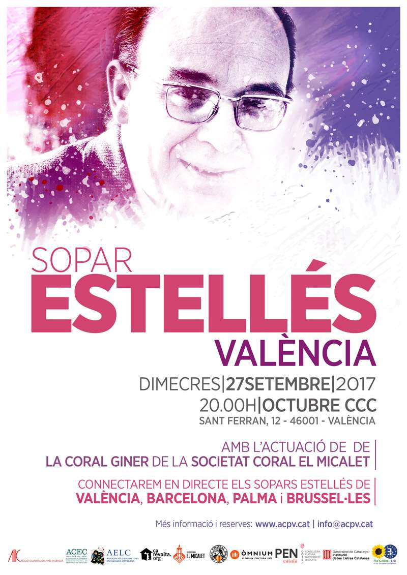 Cartell del sopar Estellés.