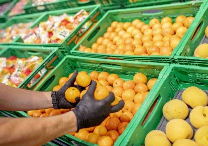 Imagen de archivo de la frutería de un supermercado.