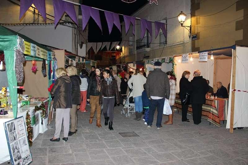La Feria de Navidad del año pasado en Náquera. //EPDA