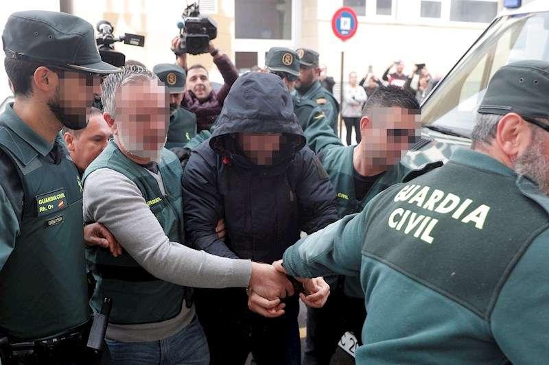 El sospechoso de la muerte de Marta Calvo, Jorge Ignacio P.J., a su llegada al Juzgado 6 de Alzira (Valencia). EFE/Kai Försterling