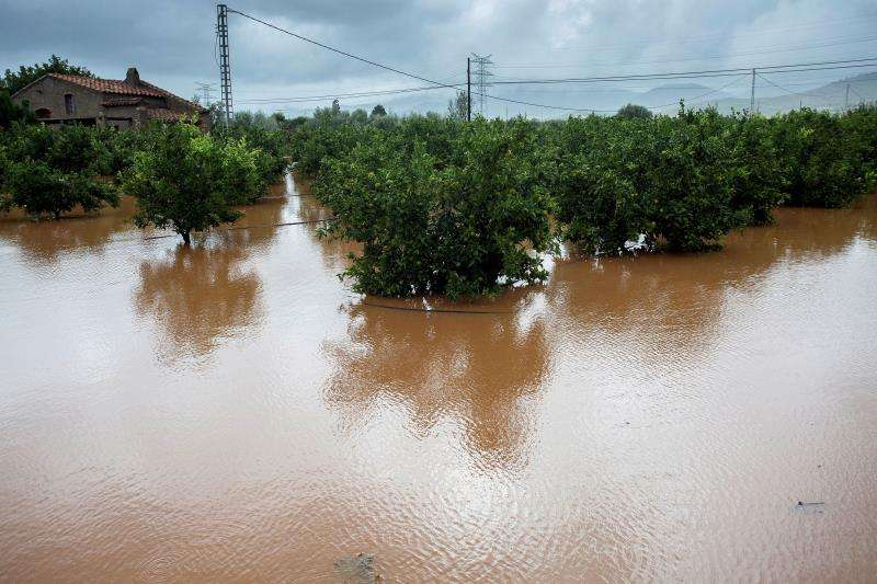Paisaje dejado por las lluvias de la semana pasada en la provincia de Castellón. EFE/Archivo