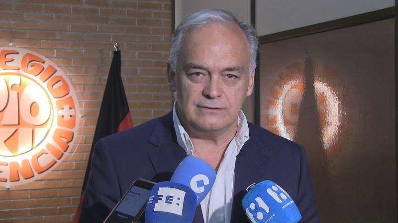 El portavoz del Partido Popular en el Parlamento Europeo, Esteban González Pons, hoy en València. EFE