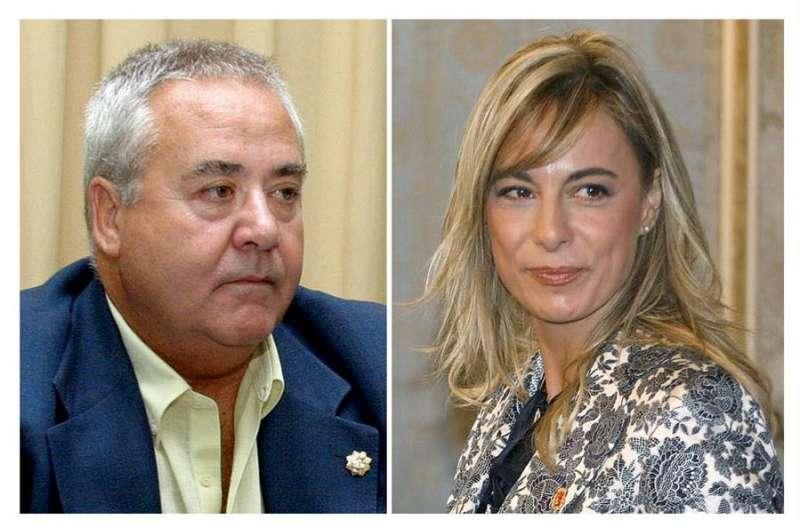 Combo de fotografías de archivo de la alcaldesa de Alicante, la popular Sonia Castedo (d), y el exalcalde del PP y predecesor en el cargo, Luis Díaz Alperi (i). EFE/Archivo