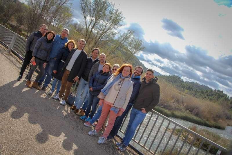 Toni Cantó y candidatos de la lista a Les Corts participan en unas jornadas de trabajo en la localidad de Cofrentes. EPDA