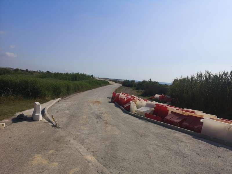Aspecto de las obras desde el Port de Sagunt.