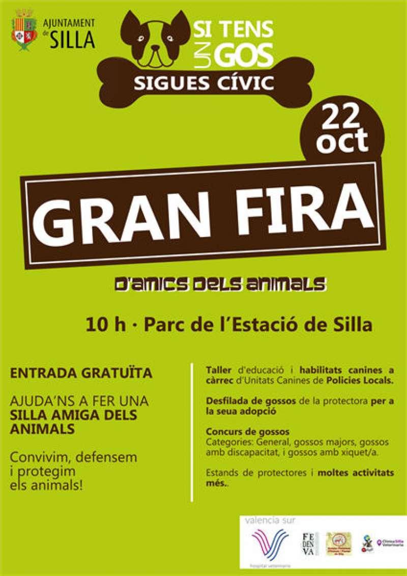 Cartell de la Fira Animal de Silla. EPDA