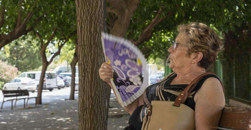 Una mujer se abanica en la calle en una imagen de archivo. EFE