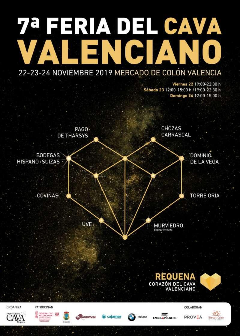 Cartel de la feria del Cava Valenciano