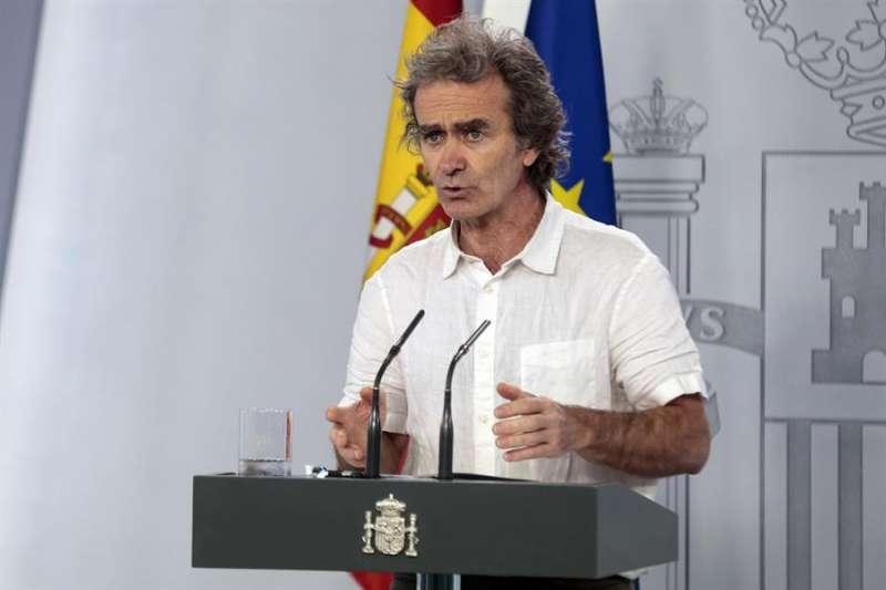 Fernando Simón en rueda de prensa para dar los últimos datos del coronavirus. EFE