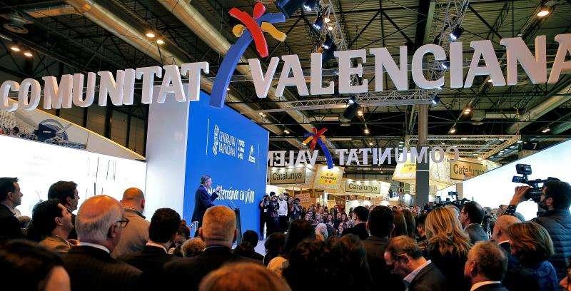Imagen del estand de la Comunitat Valenciana en la Feria Internacional de Turismo (Fitur) en la pasada edición. EFE/Archivo