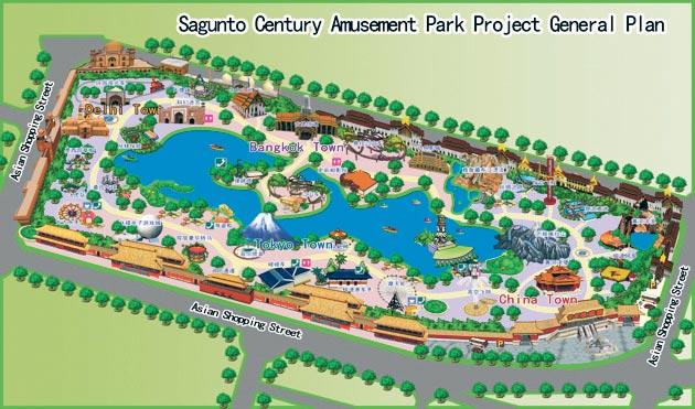 Mapa del parque temático. FOTO EPDA