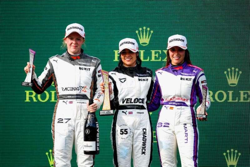 Nerea Martí en el podio de Hungaroring