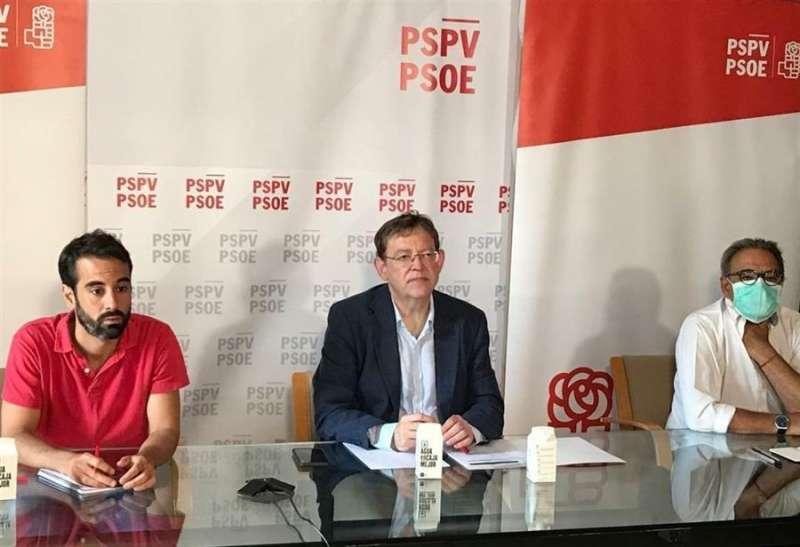 Imagen facilitada por el partido de Ximo Puig en el Consell Territorial. EFE/PSPV