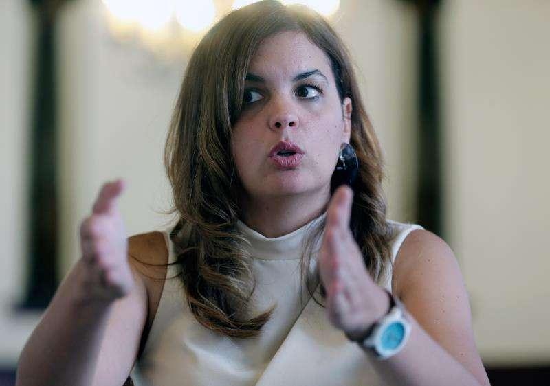 La candidata del PSPV-PSOE la alcaldía de València, Sandra Gómez