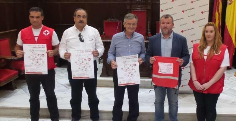 Presentación hoy en rueda de prensa del Día Mundial de Cruz Roja esta mañana en Sagunto.