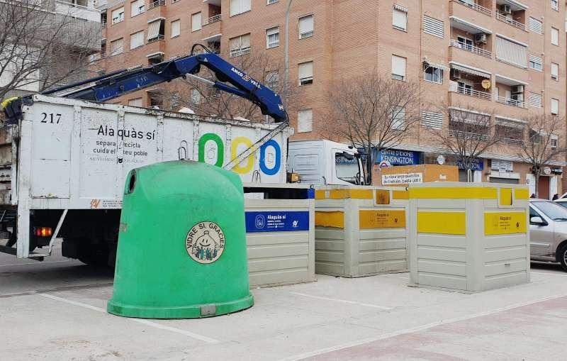 Recollida del reciclatge a Alaquàs.