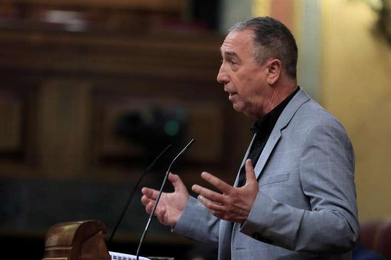 El diputado de Compromís, Joan Baldoví, durante una intervención en el pleno del Congreso, en una imagen reciente. EFE