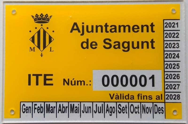 Placa identificativa ITE (Inspección Técnica de Edificios). EPDA