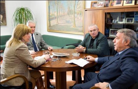 Reunión de la diputada Amparo Mora con el Presidente y representantes de FAGA. Foto: Abulaila