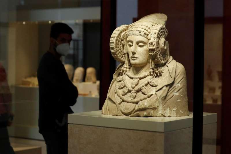 La dama de Elche en el Museo Arqueológico Nacional, en Madrid.