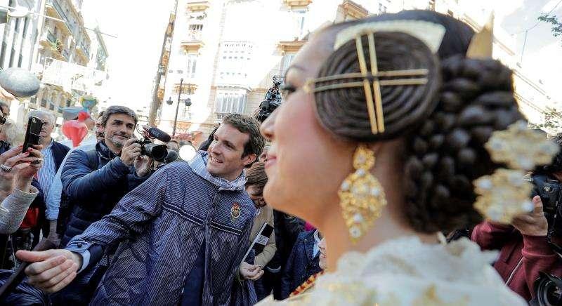Pablo Casado en València. EFE