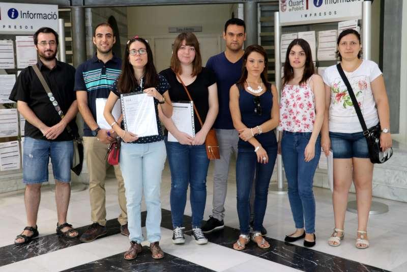 10 jóvenes empleados desde hoy en el consistorio de Quart de Poblet.