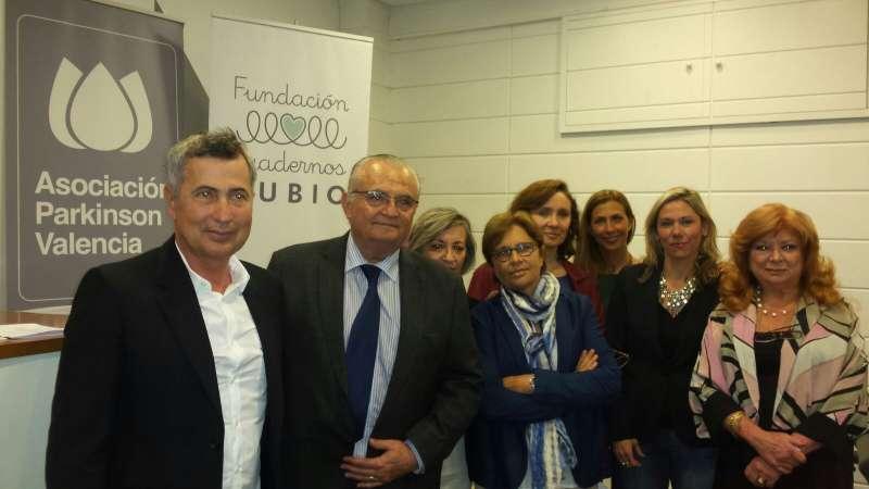 Miembros de la Asociación Parkinson Valencia y de la Fundación Cuadernos Rubio