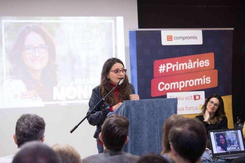 La dirigente de Compromís Mónica Oltra en Alicante. EPDA