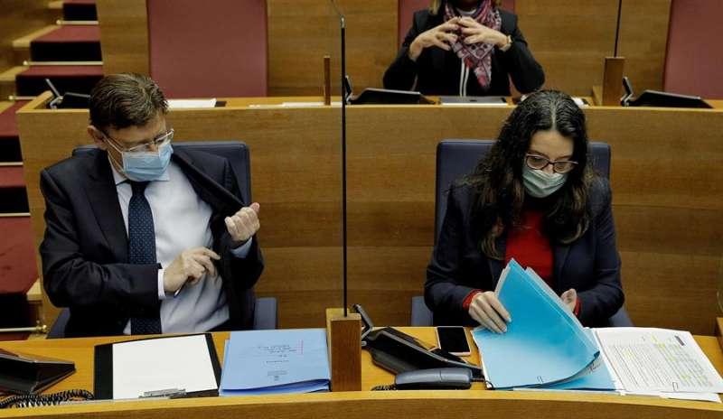 El president de la Generalitat, Ximo Puig, y la vicepresidenta Mónica Oltra
