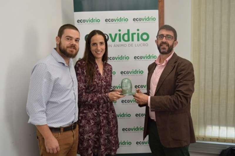 Palanca i Rivilla, amb el responsable d?Ecovidrio. EPDA