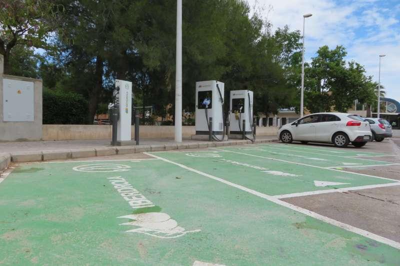 Punto de carga de vehículos eléctricos. / EPDA