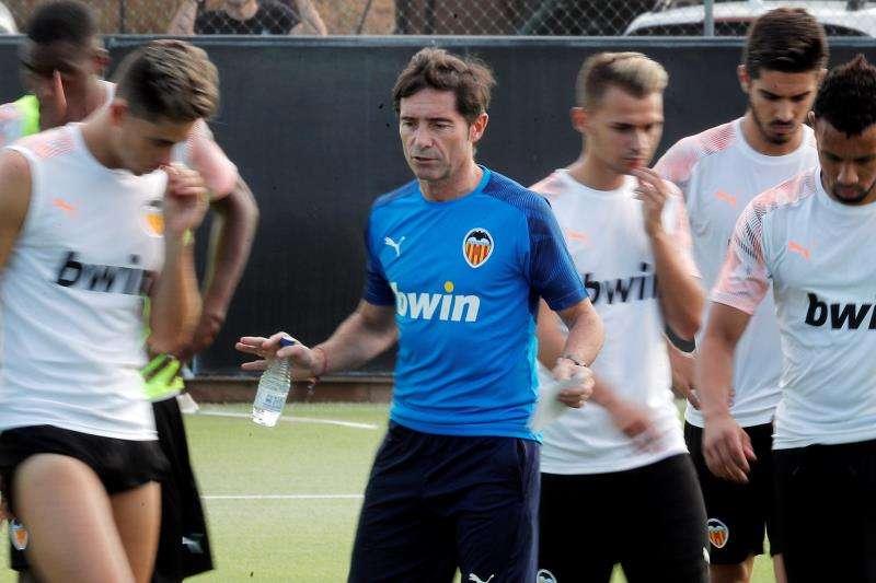 El técnico del Valencia, Marcelino García Toral. EFE