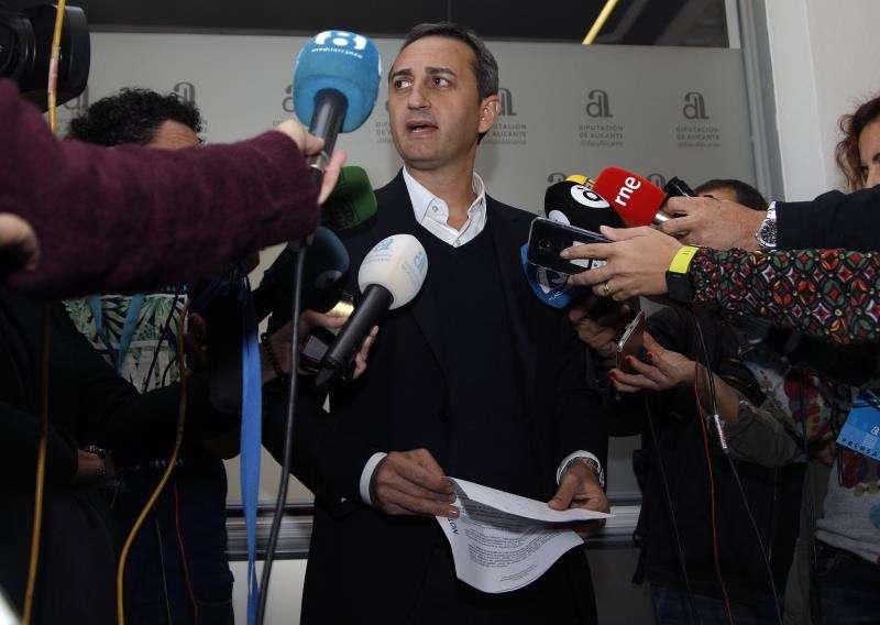 El presidente de la Diputación de Alicante, César Sánchez. EFE/Archivo