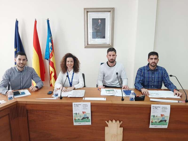 Imagen de las autoridades en la presentación del Proyecto 50-100 EPDA