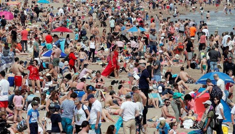 Playa de la Malvarrosa de València. EFE/Archivo