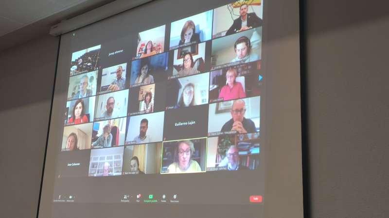 Conexión virtual de los representantes de la Mancomunitat.
