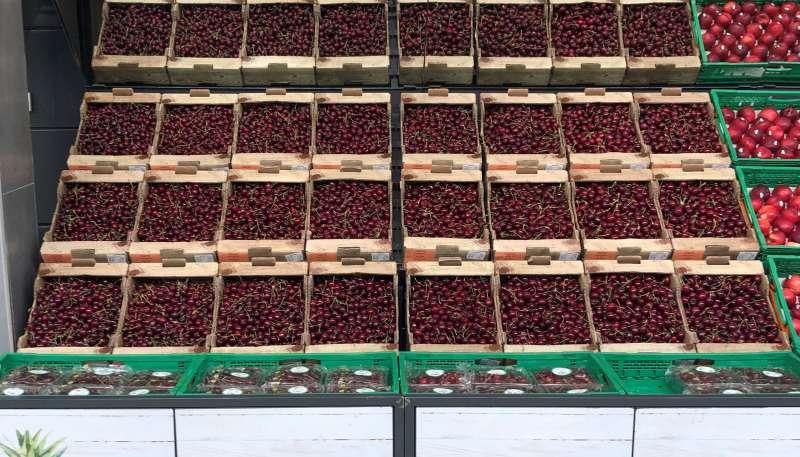 Cerezas de origen España, en el lineal de Mercadona
