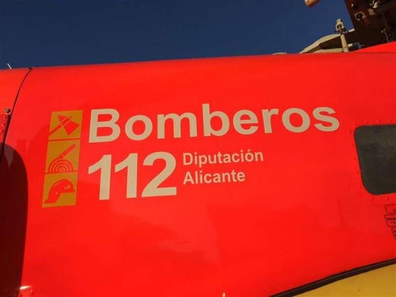 Detalle de un vehículo de Bomberos del consorcio de Alicante, en una imagen de este cuerpo de Emergencias.