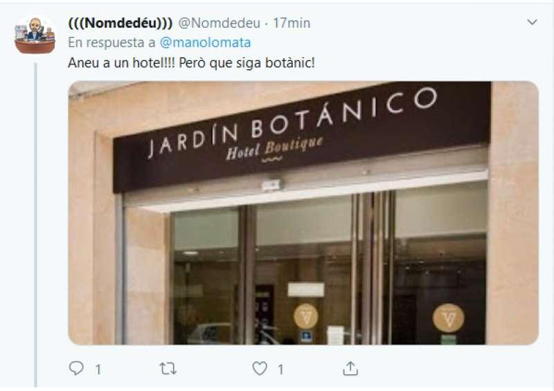 Tuit de Enric Nomdedéu. EPDA
