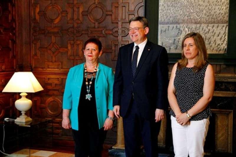 Puig recibe a la alcaldesa de Puçol. EPDA