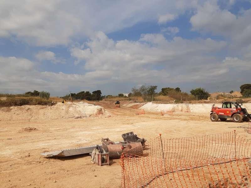 Solar donde se situará la nueva Ciudad de la Justicia en Torrent. EPDA