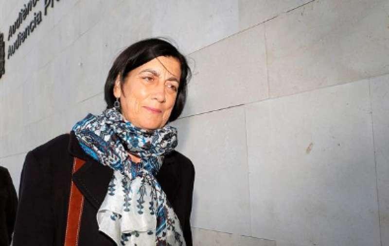 Marisa Gracia, tras haberse alcanzado un acuerdo con los acusados. EFE/Manuel Bruque
